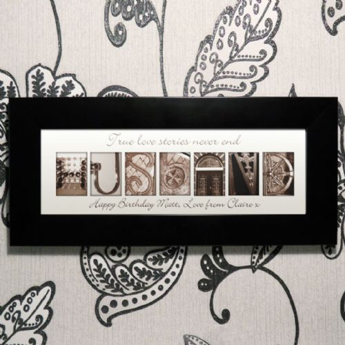 Personalised Affection Art Husband Small Frame